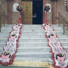 Papillon Rose, Gris Rose, Butterfly Wedding