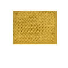molly meg pointelle knitted blanket, ceylon yellow