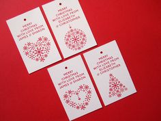 Personalised Christmas Tags from notonthehighstreet.com