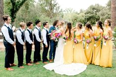Mustard Bridesmaid Dresses, Mustard Yellow Dresses, Blue Bridesmaids, Wedding Color Schemes, Wedding Colors, Wedding Dress Boutiques, Wedding Dresses, Bridal Salon, Groomsmen