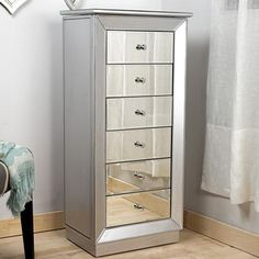 Rothwell Jewelry Armoire with Flip Top Mirror My apartment