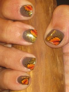 fall+nail+art+pictures | Fall Leaves - Nail Art Archive - Style ...