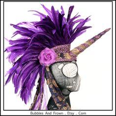Purple Unicorn... Unicorn Headdress with by BubblesAndFrown, $196.66 - fabulous purple headgear