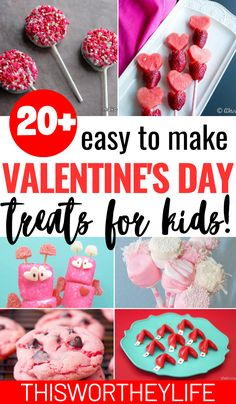 If you're stuck on what to bring, here's 20 Kid's Valentine's Day Treats to help you decide! Kids Valentines Day Treats, Valentine Day Crafts, Easy Snacks For Kids, Kid Snacks, Heart Shaped Candy, Chocolate Sweets, Sweetest Day, Boyfriend Gifts, Pink