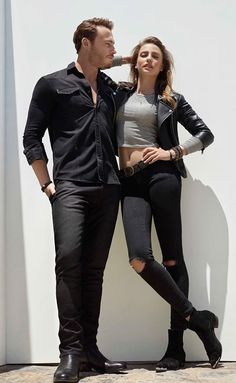 Kerem Bursin and Serenay Sarikaya