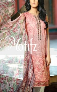 Peach Embroidered Cotton Lawn Salwar Kameez