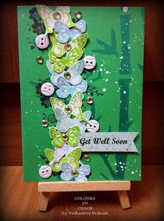 Get Well Soon card made using Itsy Bitsy stamps.
