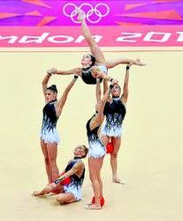 El equipo español de gimnasia rítmica. Spanish Rhythmic Gymnastics team, London 2012 Olympics