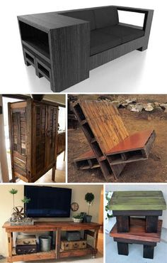 20 Brilliant DIY Pallet Furniture Design Ideas to Inspire You - diy pallet creations Diy Pallet Furniture, Diy Pallet Projects, Furniture Projects, Home Projects, Furniture Design, Pallet Ideas, Furniture Plans, Geek Furniture, Outdoor Furniture