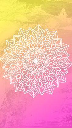 Flowery Wallpaper, Wallpaper Space, Pattern Wallpaper, Phone Backgrounds Tumblr, Wallpaper Backgrounds, Iphone Wallpaper, Cute Tumblr Wallpaper, Pretty Wallpapers, Mandala Doodle