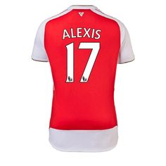 Puma Arsenal  ALEXIS 17  Home  15- 16 Replica Soccer Jersey (High Risk  Red White) 18972474f
