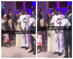 Tiwa Savage Husband Teebillz And Son Jamil In Church Today