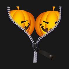 Pumpkin Funny Boobs Zip Hooded Sweatshirt