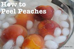 TIP - How to easily peel peaches!