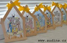 Ice styles and an expression become Christmas decorations - Kuchen Preschool Christmas, Christmas Nativity, Christmas Activities, Christmas Crafts For Kids, Kids Christmas, Christmas Gifts, Christmas Decorations, Christmas Ornaments, Childrens Christmas