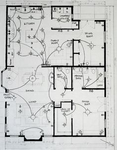 home electrical wiring diagram blueprint our cabin home Wiring-Diagram Room Floor Plan student work lighting plan