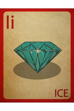 mynameisjz Ice Flashcard Poster