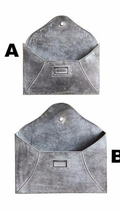 Metal Envelope Wall Pocket, 2 Sizes to choose from