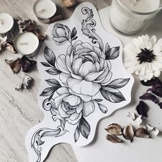 Rose Hand Tattoo, Tattoo On, Rose Tattoos, Body Art Tattoos, Hand Tattoos, Flowers Tatto, Peonies Tattoo, Tattoo Sketches, Tattoo Drawings