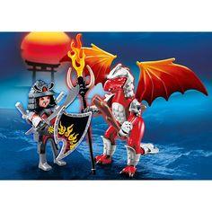 Playmobil Smoki Ognisty smok z wojownikiem, 5463, klocki
