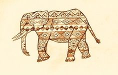 Perfect for my love of tattoos and elephants. So Indian.