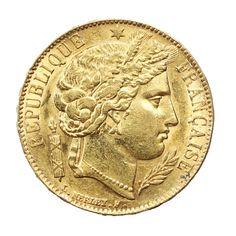 Une Nouvelle pièce d'or de 20 Francs Cérès frappée en 1851 est en vente dans la boutique eBay Sacra Moneta Moneta, 20 Francs, French Coins, Gold Bullion, Gold Coins, Boutique, Personalized Items, Ebay, Shopping