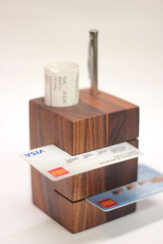 Check Stand (Repurposed Wood Product) by Tysonn, via Behance