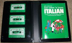 Vtg Passport Books Just Listen 'n Learn Italian Book & 3 Tapes UNTESTED…