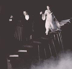 Earl Carpenter and Katie Hall in Phantom