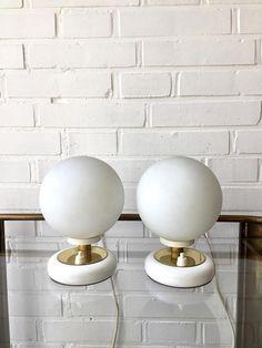 Vintage Lampen Kugellampe mid century Paar Leuchten