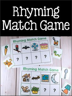 Rhyming Match Game Printable