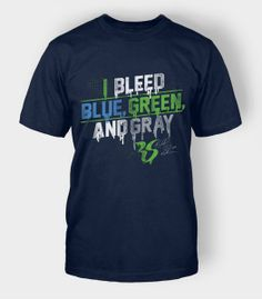 You know who you are, show your 12th Man pride in this I Bleed Blue, Green and Gray special edition tee.