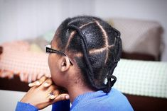 Freshly washed hair and stretched using the african threading method (mabhanzi). Yay or nay for work tomorrow? Protective Hairstyles For Natural Hair, Natural Hair Braids, Natural Afro Hairstyles, Ethnic Hairstyles, African Braids Hairstyles, Braids For Black Hair, Girl Hairstyles, Natural Hair Styles, Long Hair Styles