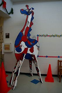 Jean Dubuffet influenced MEGA Animal sculpture  (would get students to work in groups after a zoo visit where they record the movements of an animal in drawings - recreate the rhythm, repetition and movement to come out with something a little more cubist and 3D than one pictured) - would do with yr 8-9