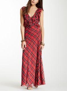 Aria Montgomery Plaid Dress. Free People - Venitia Plaid Ruffle Maxi Dress. Pretty Little Liars Fashion, Dresses, Outfits. Shop it http://www.pradux.com/free-people-venitia-plaid-ruffle-maxi-dress-26853?q=s15
