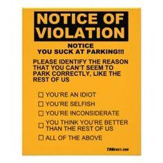 Joke Parking Ticket Template