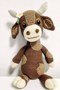 Debbie the Cow Amigurumi Crochet Pattern Printable PDF | Cute Spotted Brown Cow Genuine Eyes Stuff Toy For Children #ad #amigurumi #amigurumidoll #amigurumipattern #amigurumitoy #amigurumiaddict #crochet #crocheting #crochetpattern #pattern #patternsforcrochet #printable #instantdownload #pdf #cows #tutorial #crochettoys