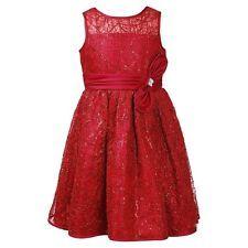 New emily west red dress girls size 8 holiday christmas xmas