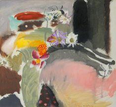 Ivon Hitchens Flower Piece (n.), oil on canvas, x 54 cm. Via BBC. Frank Auerbach, Flower Words, Flower Art, Gallery Of Modern Art, Art Gallery, Abstract Flowers, Abstract Art, Art Uk, Fantasy Creatures