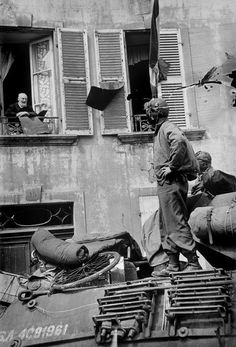 3 july 1944. An American unit entering Cherbourg.