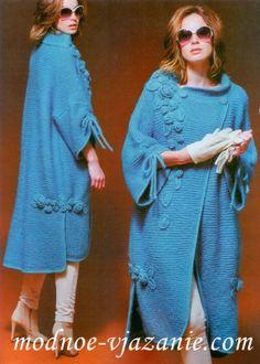 Вязаное пальто в стиле бохо