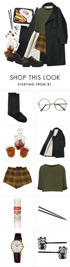 """""""you are"""" by paper-freckles ❤ liked on Polyvore featuring Hue, Madame A Paris, Topshop, Muji, Frédérique Constant, Hollywood Mirror and UNIF"""