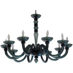 Magnificent Smoked Murano Glass Chandelier in Manner of Venini | 1stdibs.com