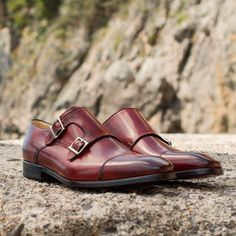 super popular 3af1e 4c1cc The Burton double monk strap in oxblood. Step up your shoe game at  PaulEvansNY.com and discover handmade luxury men s footwear.