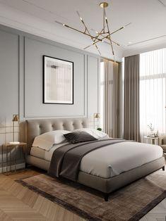 15 Modern Bedroom Interior Design Ideas That Make You Look Twice Contemporary Interior Design, Interior Modern, Home Interior Design, Contemporary Wallpaper, Kitchen Contemporary, Contemporary Classic, Kitchen Modern, Contemporary Houses, Contemporary Bedroom Decor