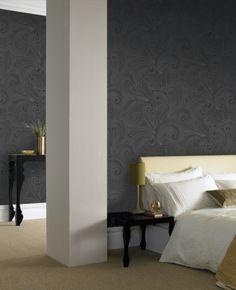 Saville: Black Wallpaper Graham & Brown