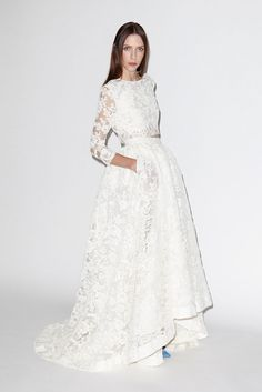 Houghton Aligote Top & Macabeau Skirt | Super Stylish Two-Piece Wedding Dresses