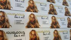 Liquid gold hair oil new business cards