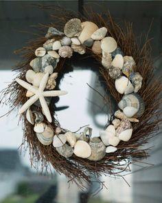 Seashell Christmas Wreath
