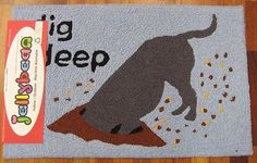 NEW JELLYBEAN INDOOR OUTDOOR RUG MACHINE WASHABLE  35% RECYCLED DIGGING DOG